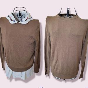 UNIQLO brown wool crewneck sweater